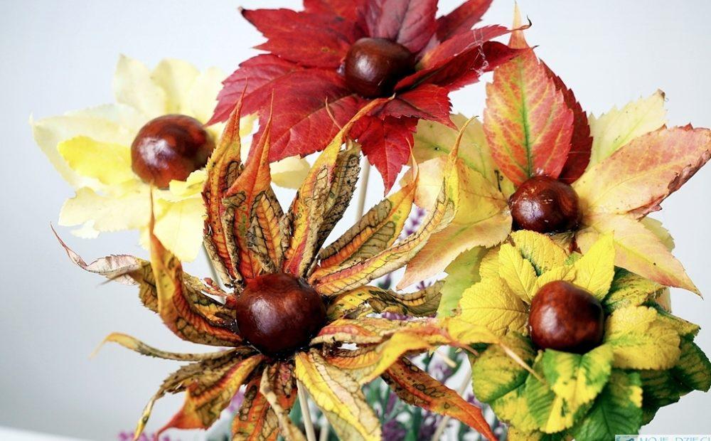 kwiaty z lisci