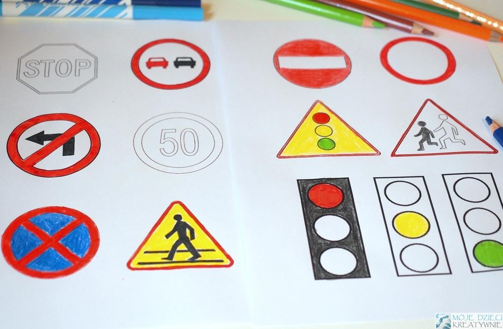Znaki Drogowe Do Druku I Kolorowania Moje Dzieci Kreatywnie