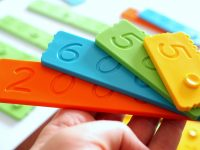 newmero klocki matematyczne edukacyjne plastikowe dla dzieci