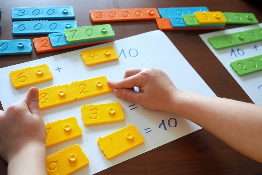 newmero klocki matematyczne edukacyjne plastikowe dla dzieci nauka liczenia zabawy pomoce