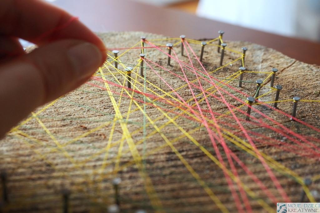 Modne ubrania Obrazy z nici czyli String Art - Moje Dzieci Kreatywnie PJ86