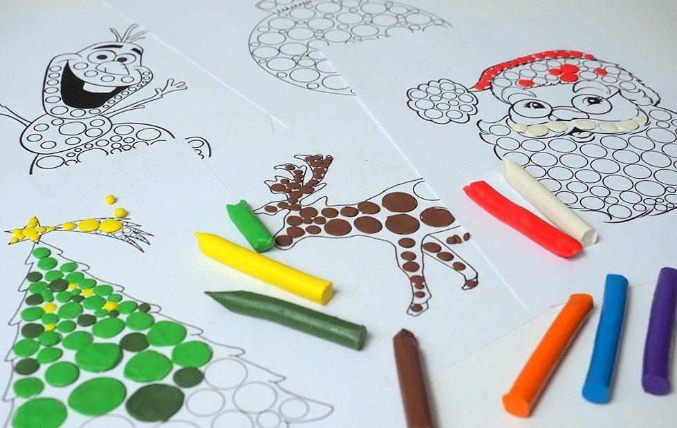 karty pracy do druku, świąteczne karty pracy, kolorowanki święta, kolorowanki mikołaj, kolorowanki choinka, przedszkole.
