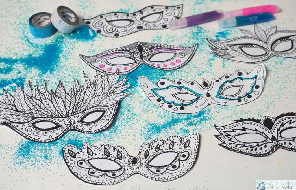 Maski Karnawałowe Szablony Do Druku Moje Dzieci Kreatywnie