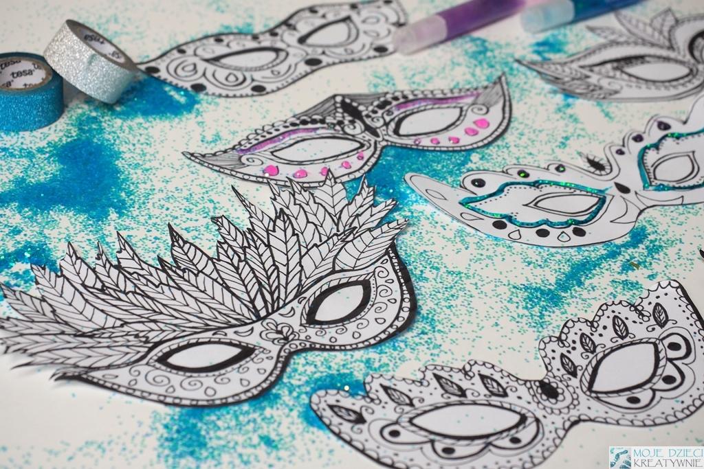 Maski karnawałowe szablony