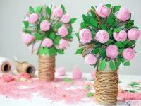różane drzewko