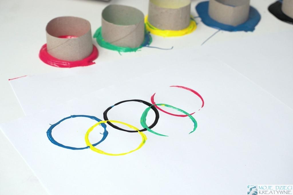 Koła Olimpijskie praca plastyczna i szablony do druku - Moje Dzieci  Kreatywnie