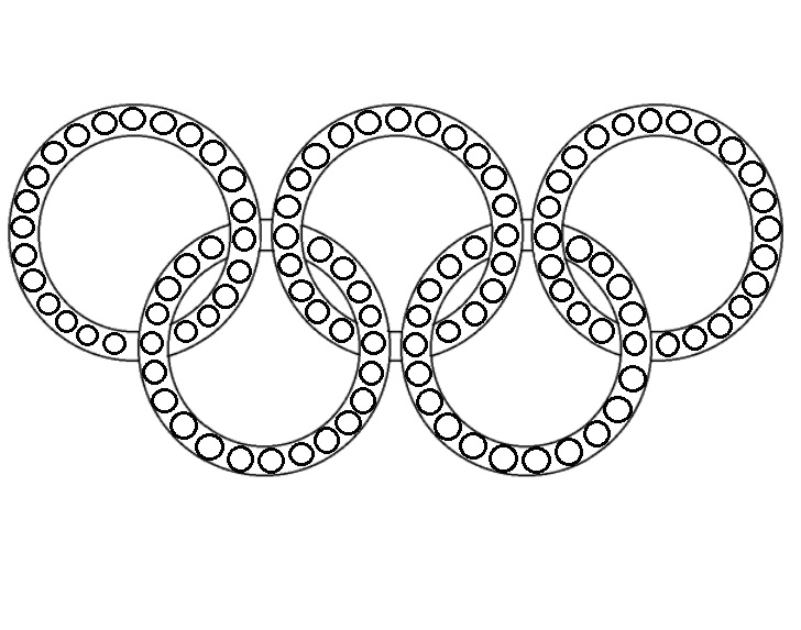 koła olimpijskie do wyklejania plastelina