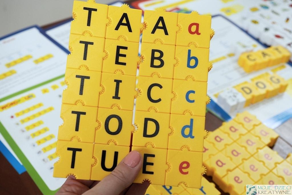 klocki edukacyjne alfabet nauka czytania czytanie sylabowe morphun