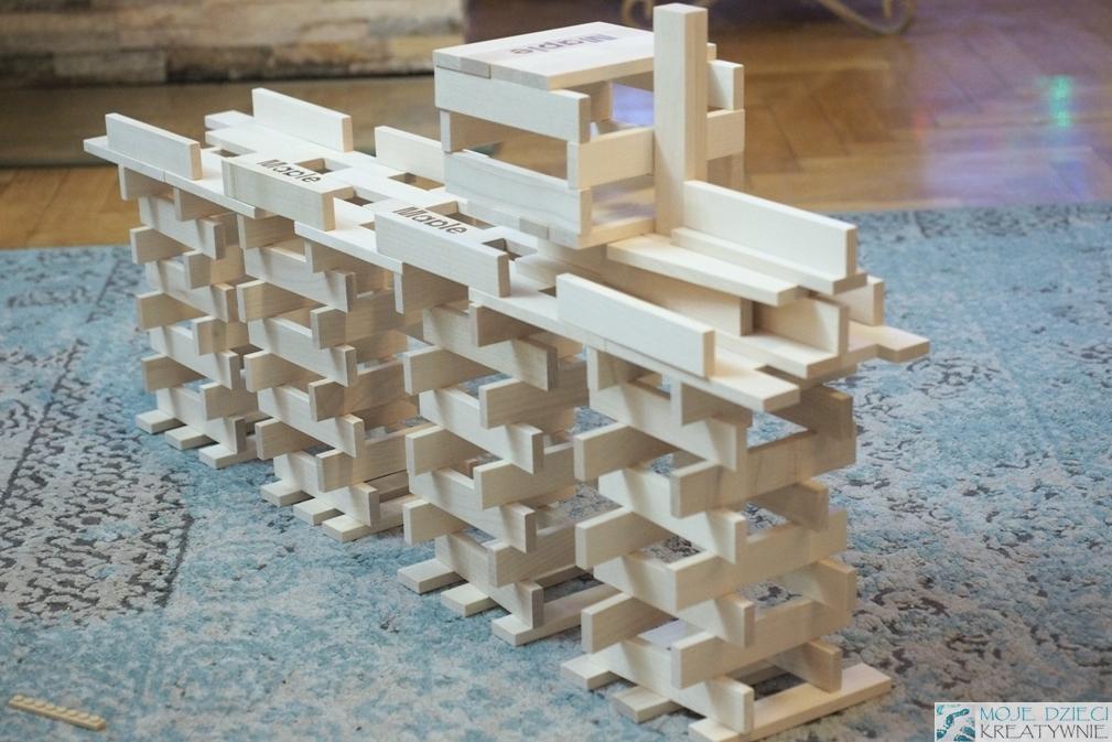 klocki konstrukcyjne drewniane maple linden