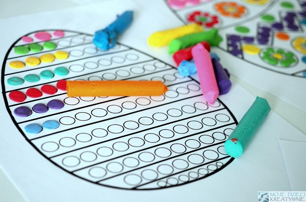 pisanki do kolorowania kolorowanki wielkanocne do druku prace plastyczne wielkanoc do wyklejania plastelina