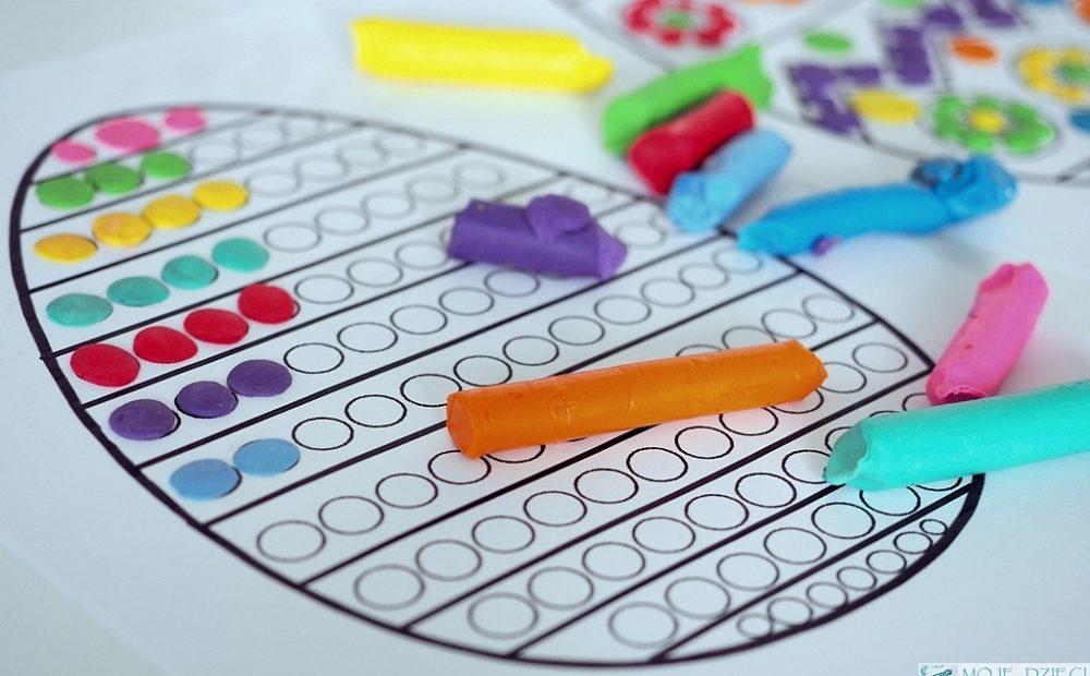 kolorowanki do druku wielkanoc pisanki jajka do kolorowania wyklejania