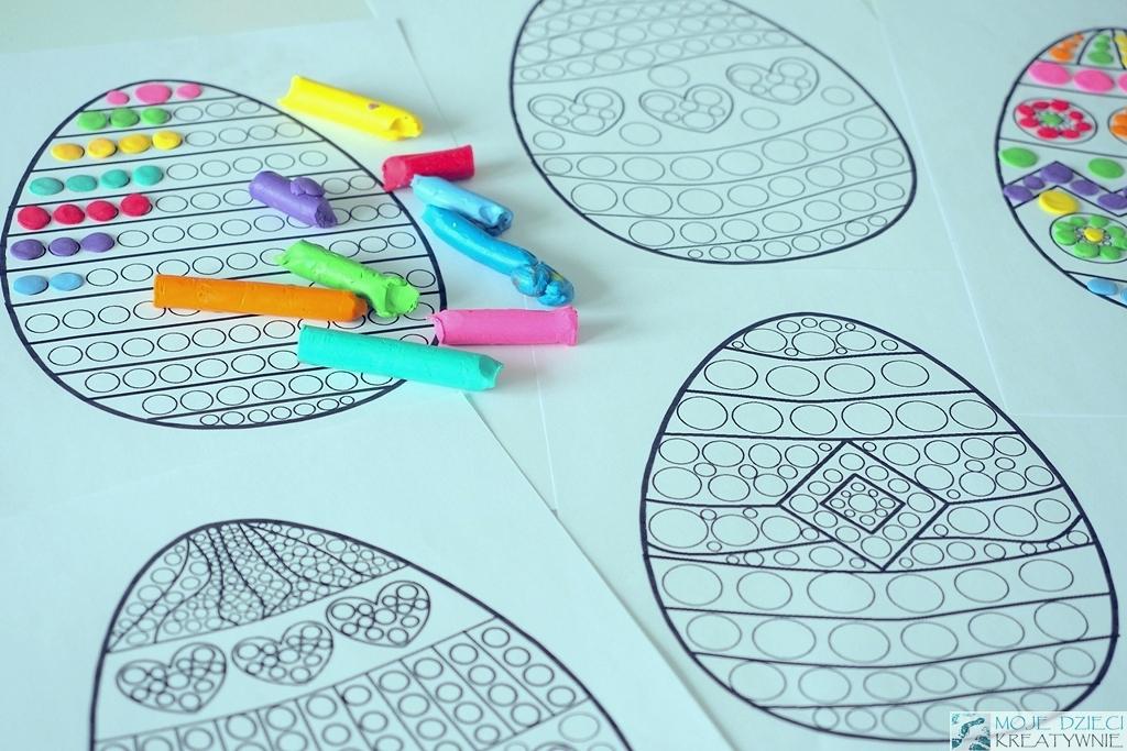 kolorowanki do druku wielkanoc swieta pisanki do wyklejania plastelina wielkanocne prace plastyczne przedszkole