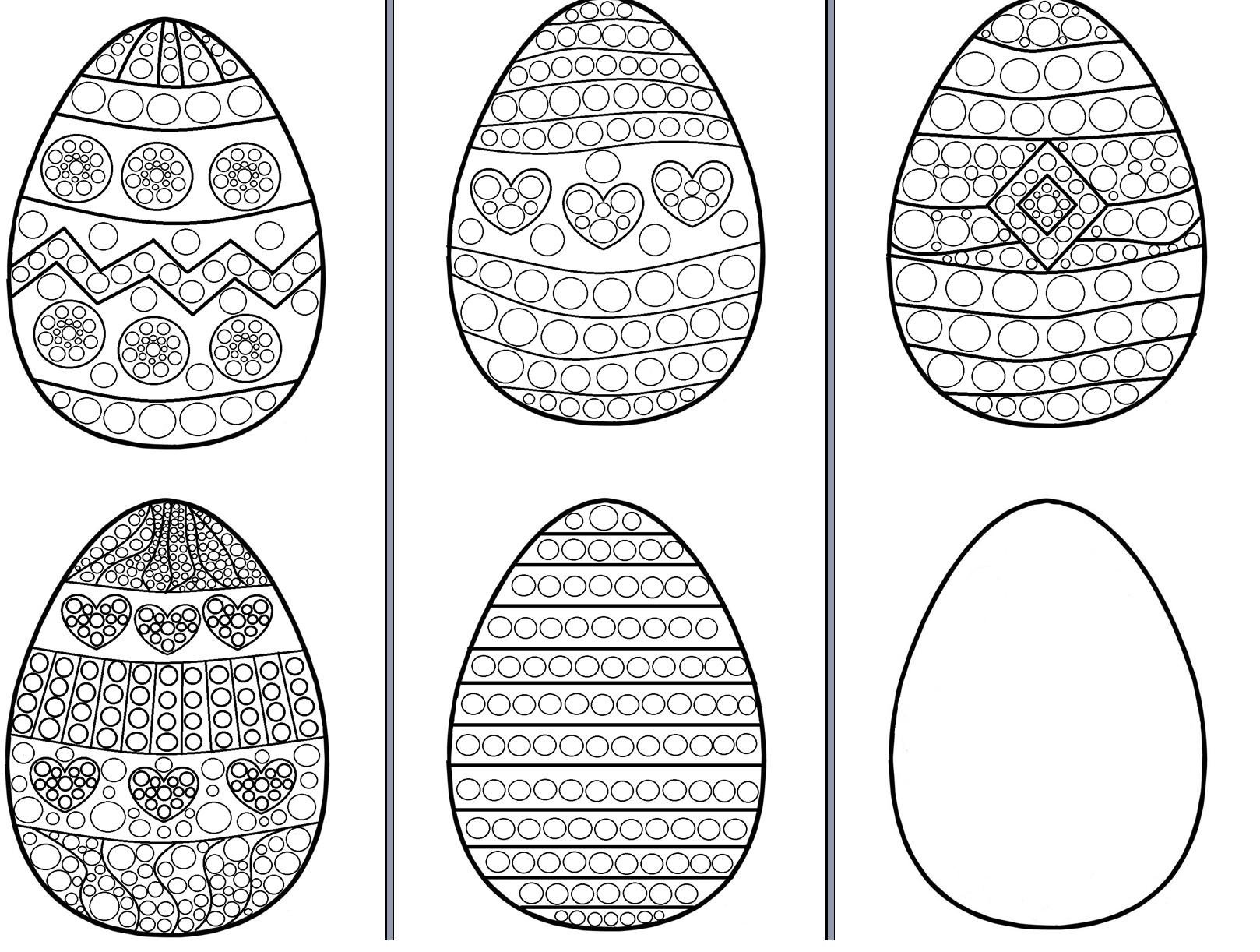 Kolorowanki Do Druku Wyklejania Plasteliną I Malowania Na Wielkanoc