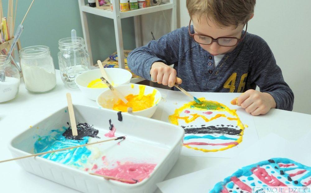 pisanki 3d, rosnące farby, zabawy dla 3 latka kreatywne dzieci