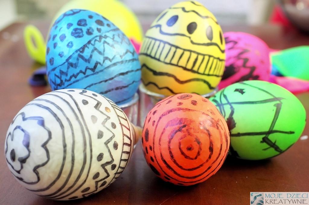 Wielkanocne pisanki z balonów