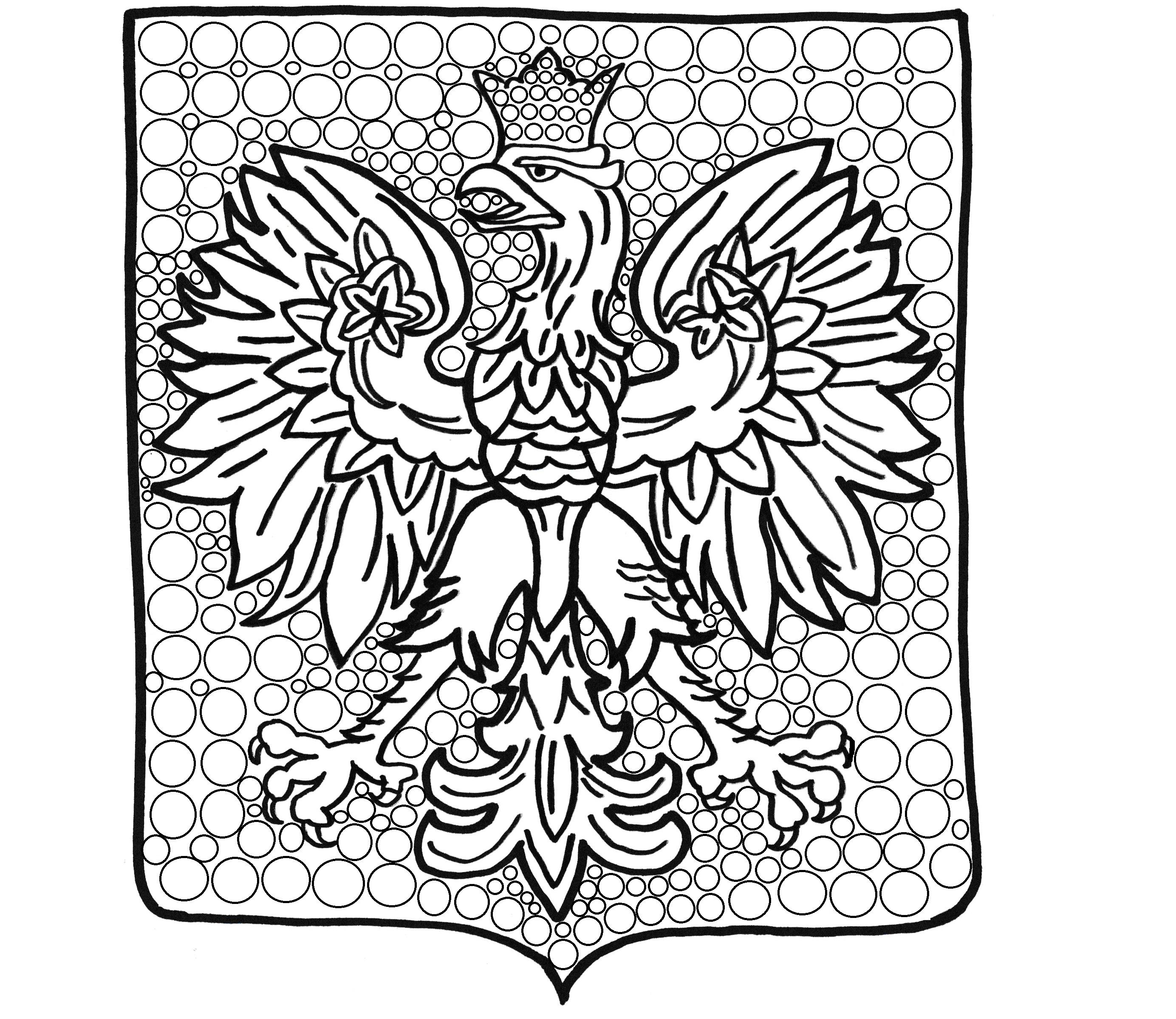 godlo polski do wyklejania malowania