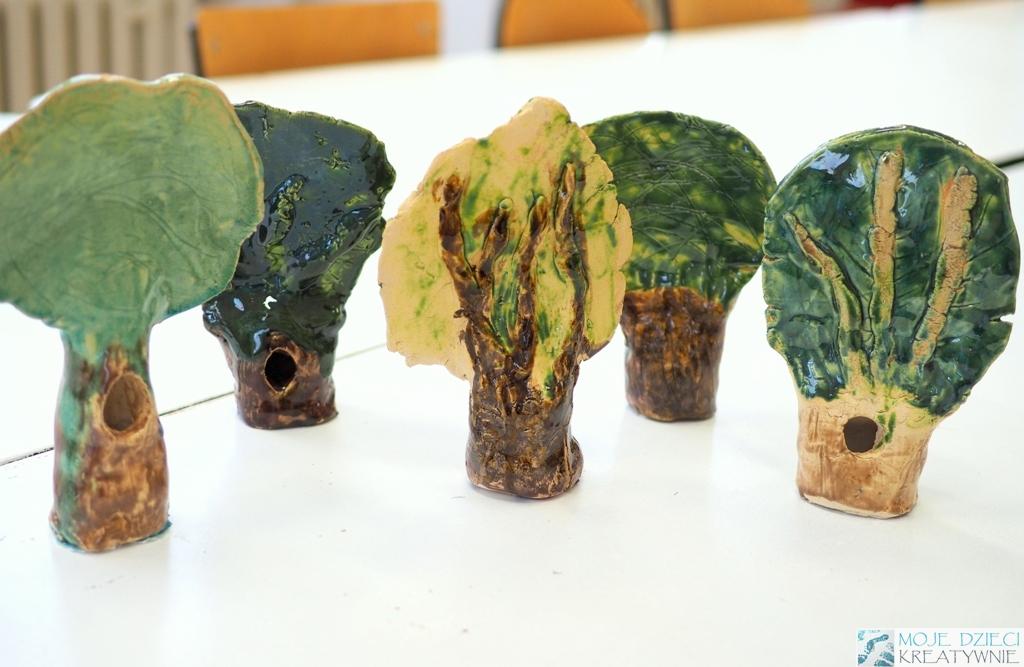drzewko praca plastyczna z gliny ciekawy pomysł na przestrzenna prace