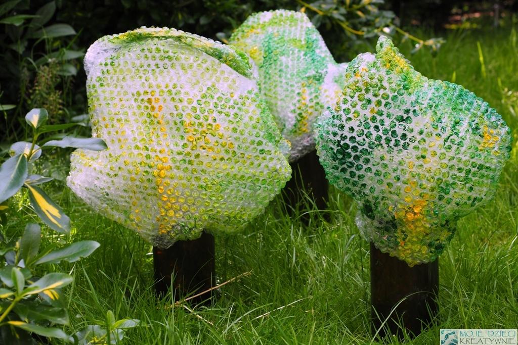 drzewo praca plastyczna z recyklingu
