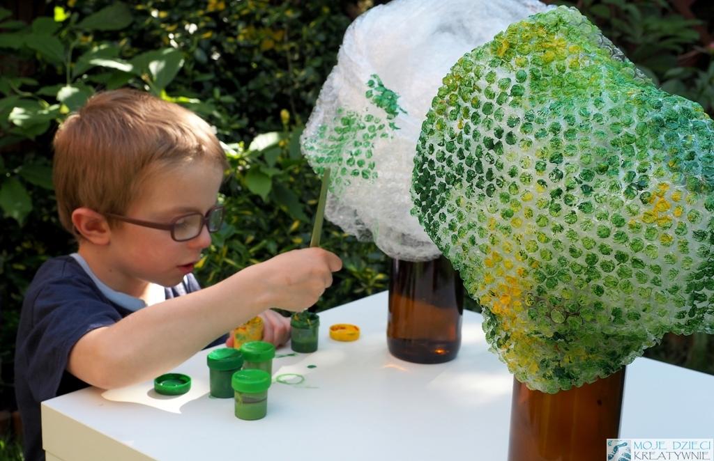 kreatywne prace plastyczne dla dzieci i przedszkolakow drzewa