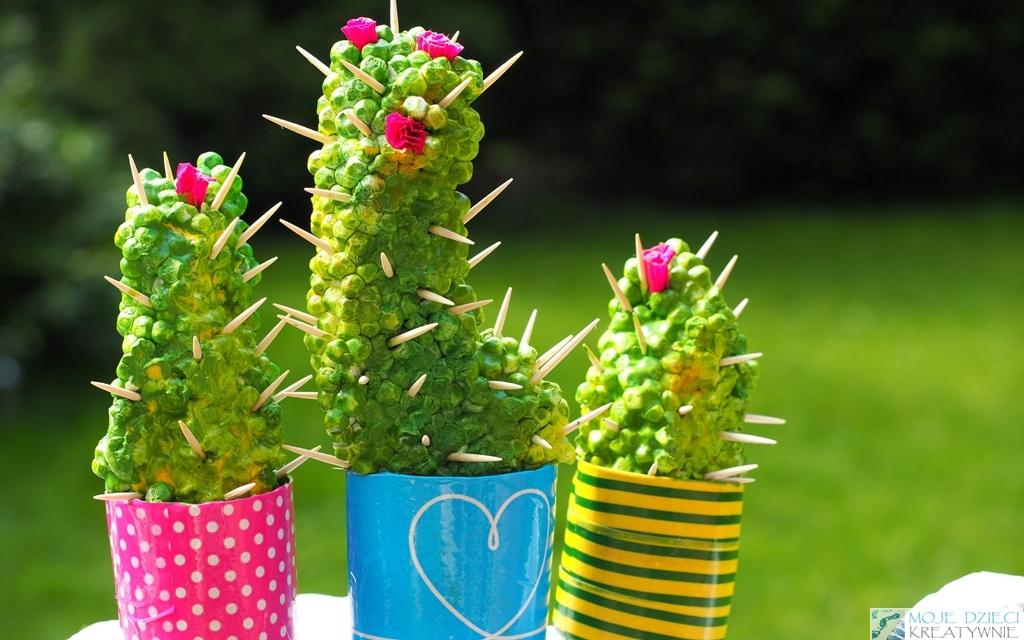 kaktus ze styropianu praca plastyczna diy sztuczne kaktusy