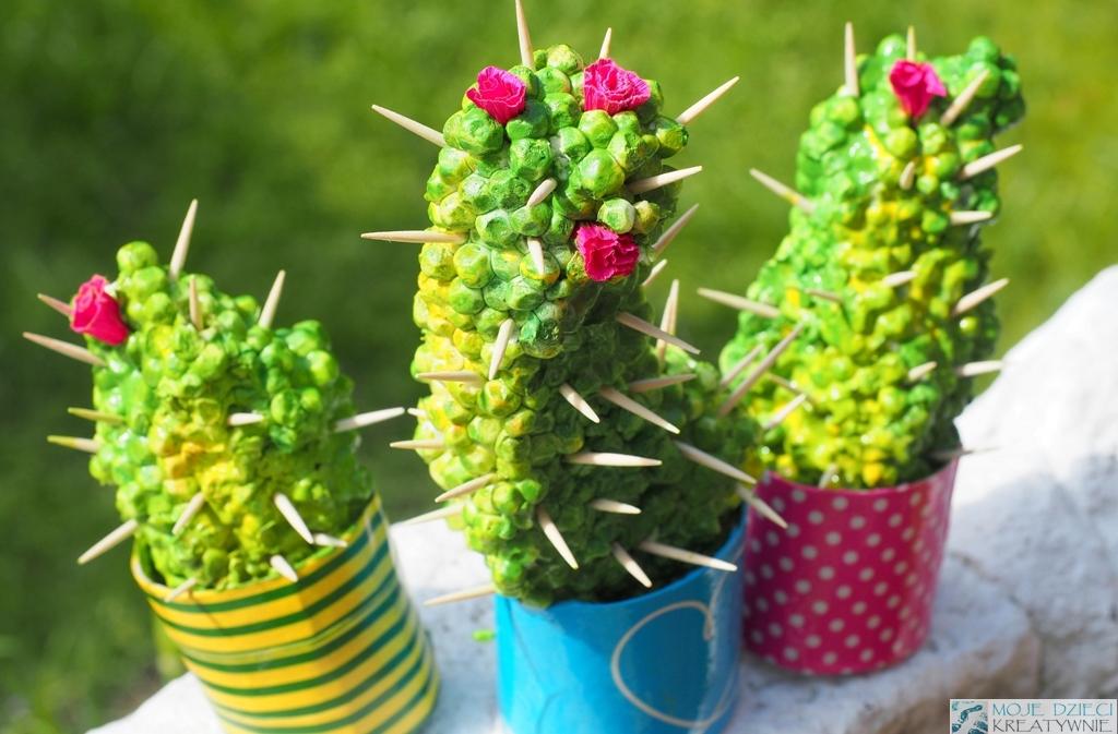 Kaktusy ze styropianu