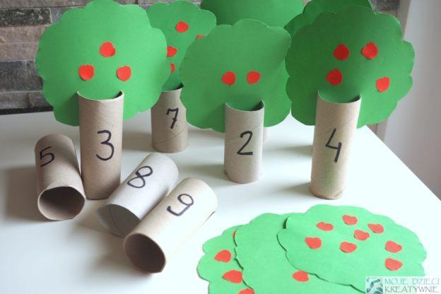 co mozna zrobic z rolek drzewka do nauki liczenia dekoracje diy