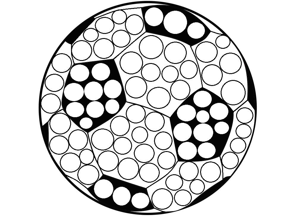 piłka nożna do wyklejania plasteliną kolorowania kontury wzór