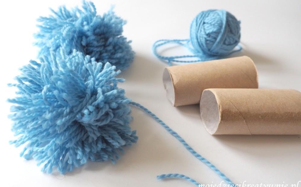 Как сделать помпон интересные идеи по использованию рулонов туалетной бумаги