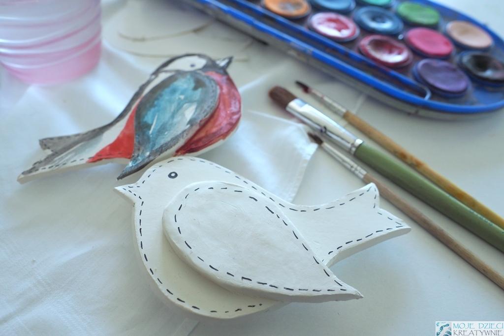ptaki z gliny prac plastyczna diy