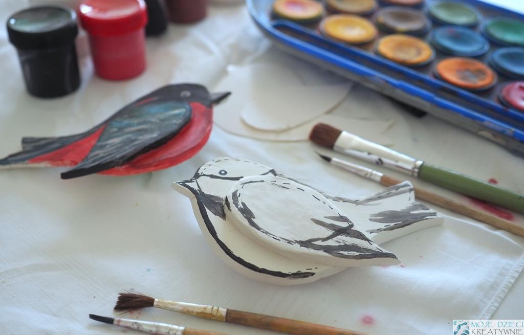 ptaki z gliny na magnes prace plastyczne dla dzieci moje dzieci kreatywnie