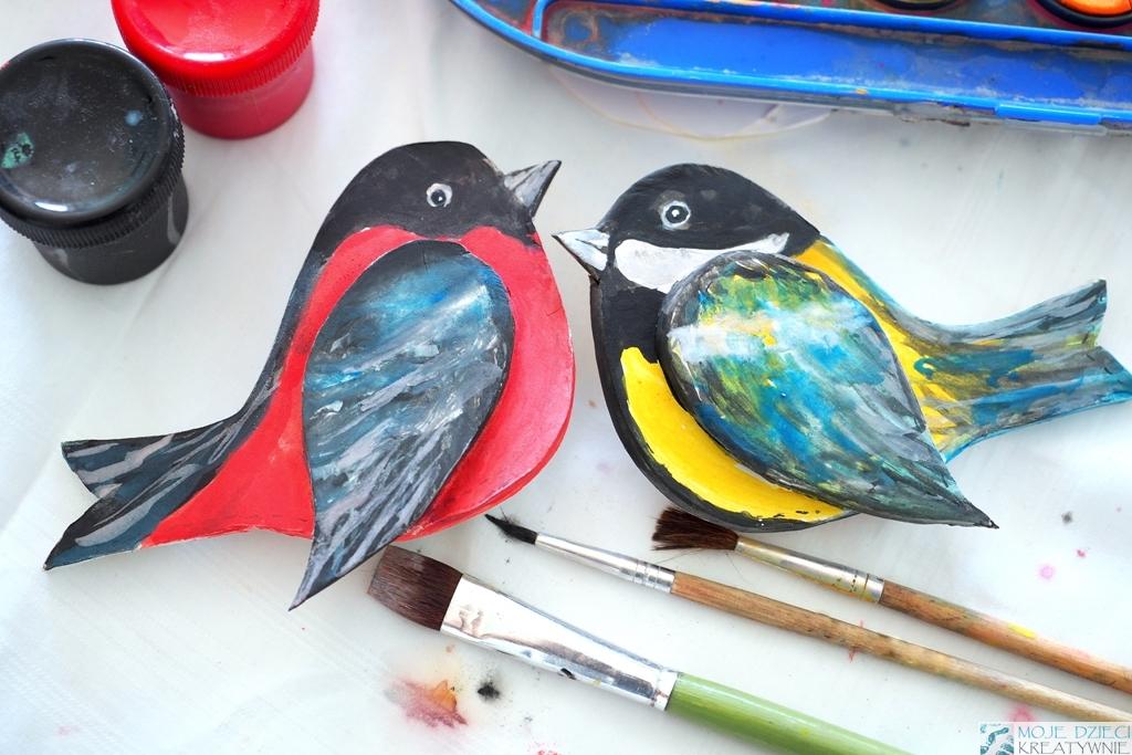 ptaki praca plastyczna sikorka gil glina