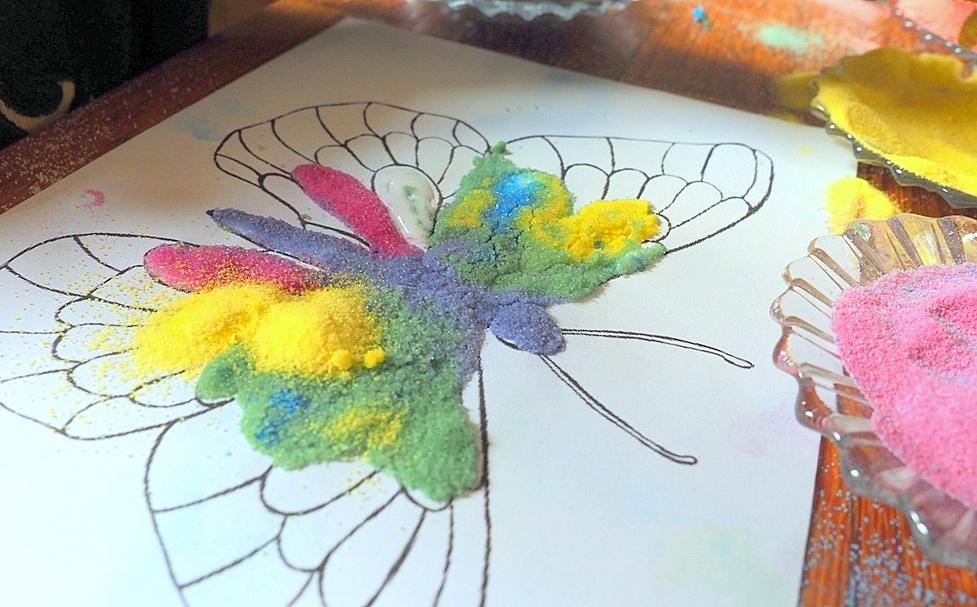piaskowe obrazki moje dzieci kreatywnie