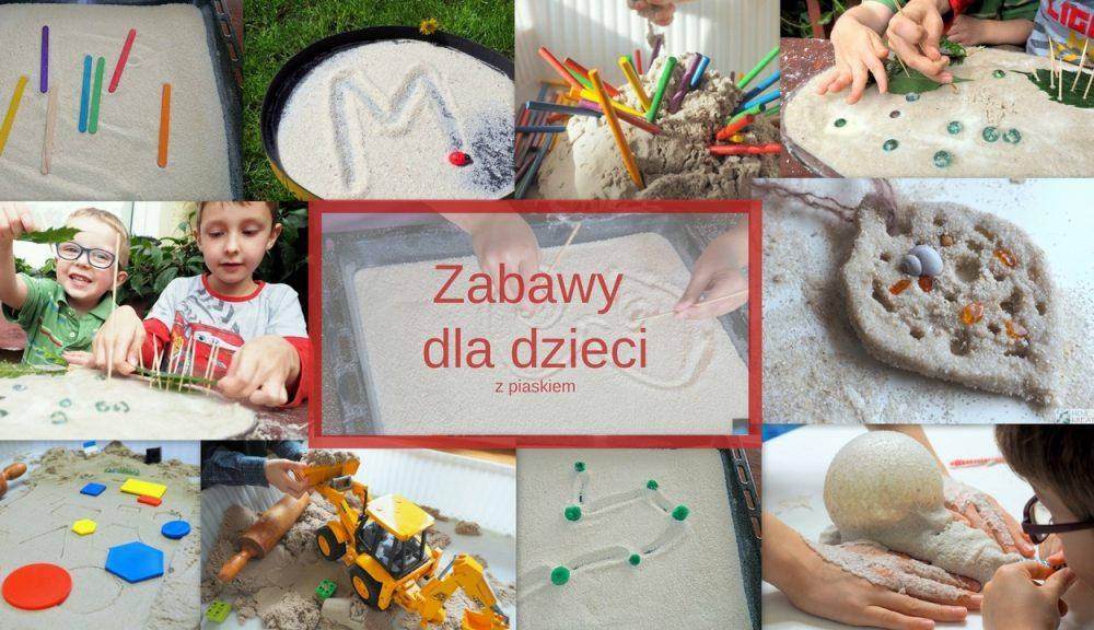 kreatywne zabawy dla dzieci z piaskiem