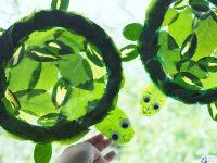 zolw praca plastyczna z lisci talerzyka witraz