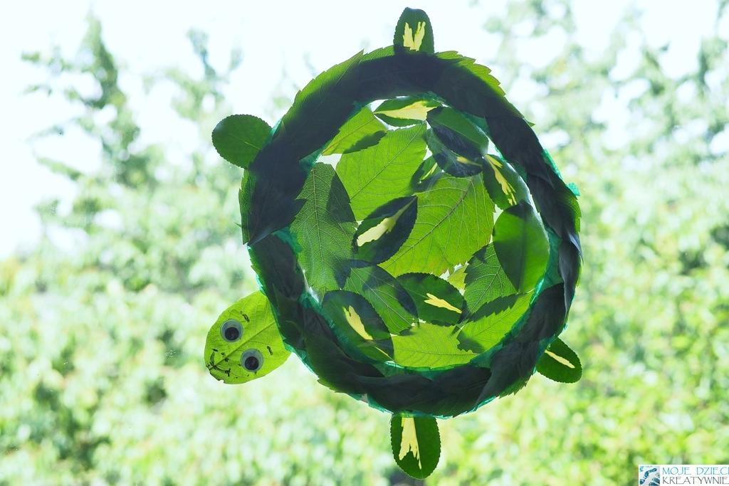 Żółw z liści prace plastyczne dla dzieci