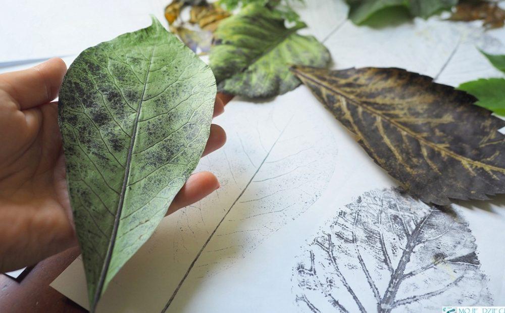 co mozna zrobic z lisci, kalkografia, ciekawe prace plastyczne, grafika dla dzieci