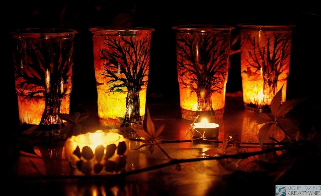lampiony diy, jak zrobic lampion, dekoracje jesienne, lampiony z kubeczków