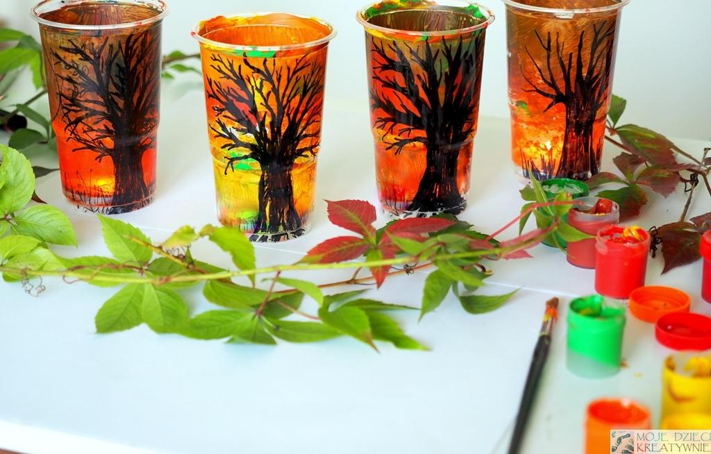 prace plastyczne dla przedszkolaków jesień, jesienne dekoracje, prace plastyczne jesień, jesienne lampiony diy
