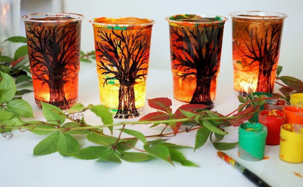 jesienne lampiony dekoracje, diy, jesienne prace plastyczne, prace plastyczne jesień