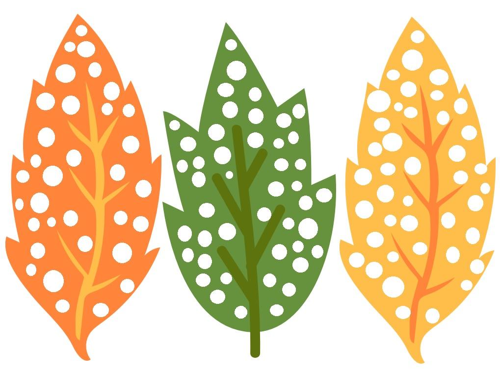 liście w kropki, szablony jesień, szablony liści, parec plastyczne jesień