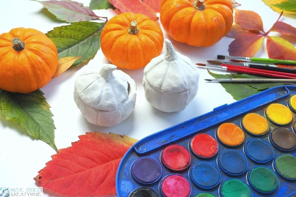dynia z gliny, co mozna zrobic z gliny, prace plastyczne jesień, moje dzieci kreatywnie