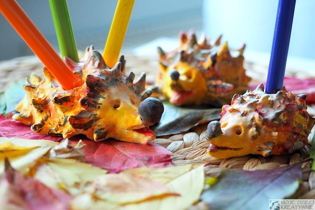 jez na kedki, praca plastyczna jesien
