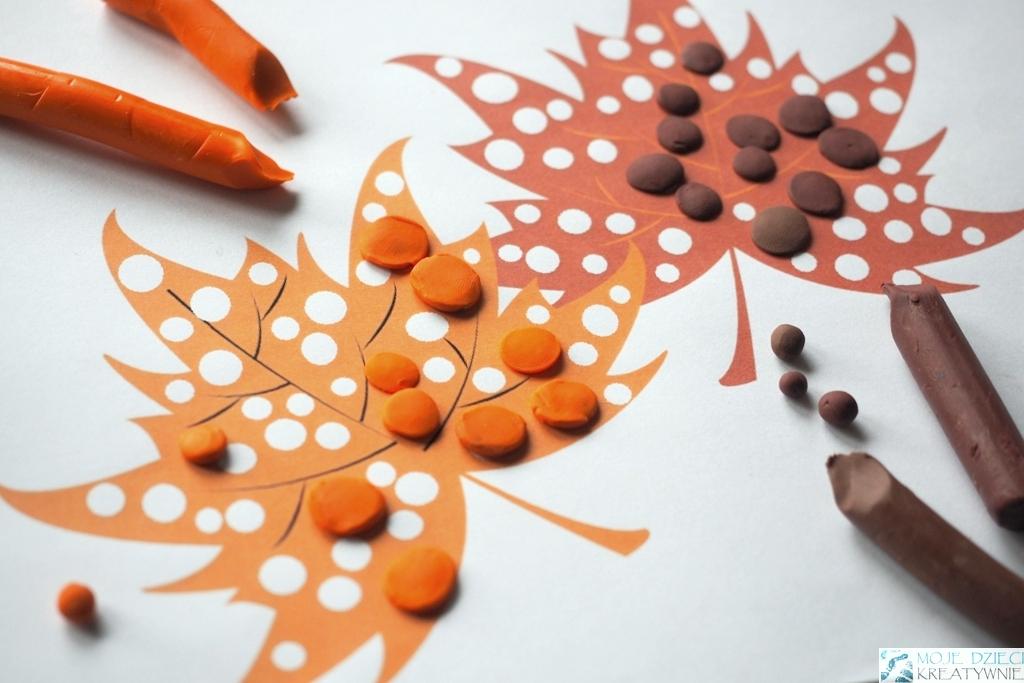 prace plastyczne w przedszkolu jesień, jesienne prace plastyczne