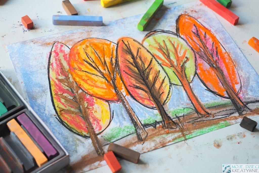 jesien prace plastyczne, jesień praca plastyczna, kolorownka jesień przedszkole, pomysły na prace plastyczne jesień, szablony drzew