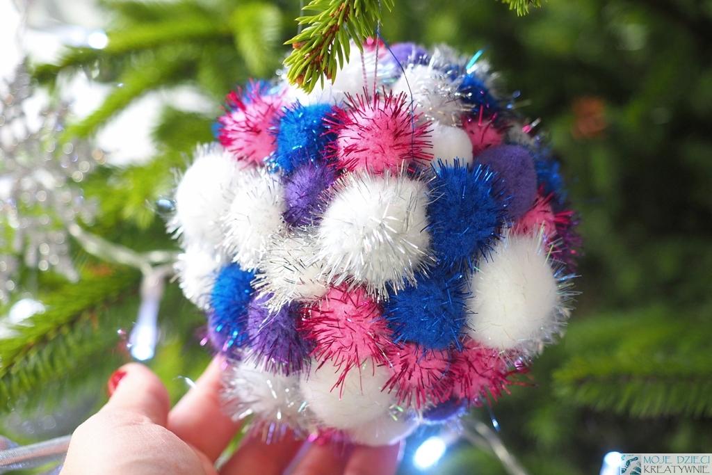 bombki ręcznie robione, diy, dekoracje dla dzieci