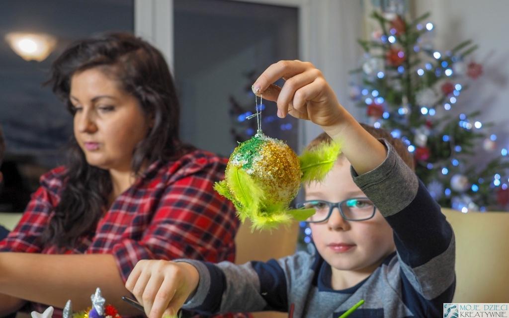 styropianowe bombki dla dzieci