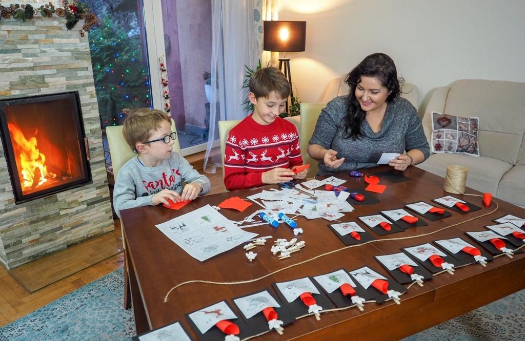 kalendarza adwentowy i zadnia, moje dzieci kreatywnie, ewa wojtan