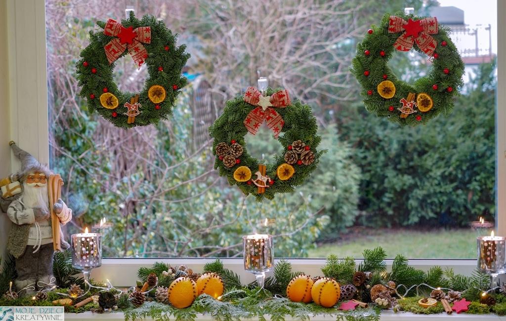 dekoracje świąteczne na okno