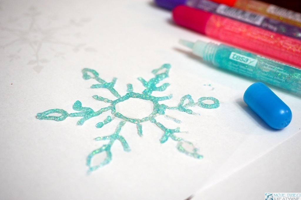 zimowe prace plastyczne