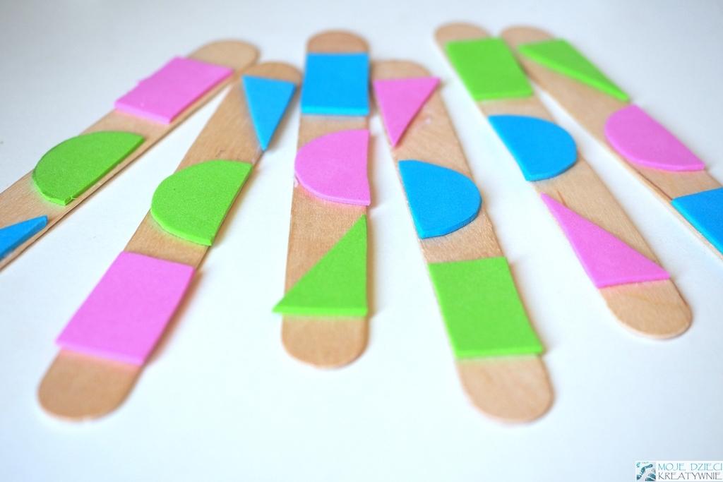 nauka figur geometrycznych, kreatywne zabawy dla dzieci, nauka przez zabawe